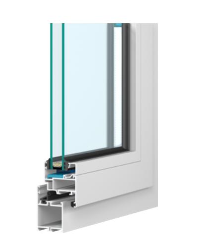 Przekrój okno aluminiowe