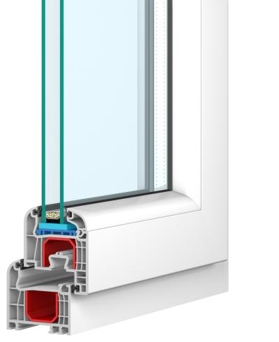 Przekrój okna PVC